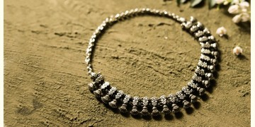 धरा ✽ Antique German Silver ✽ Necklace { 46 }