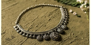 धरा ✽ Antique German Silver ✽ Necklace { 51 }