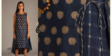 Indigo Collection | Linen angrakha wrap in block print | 10