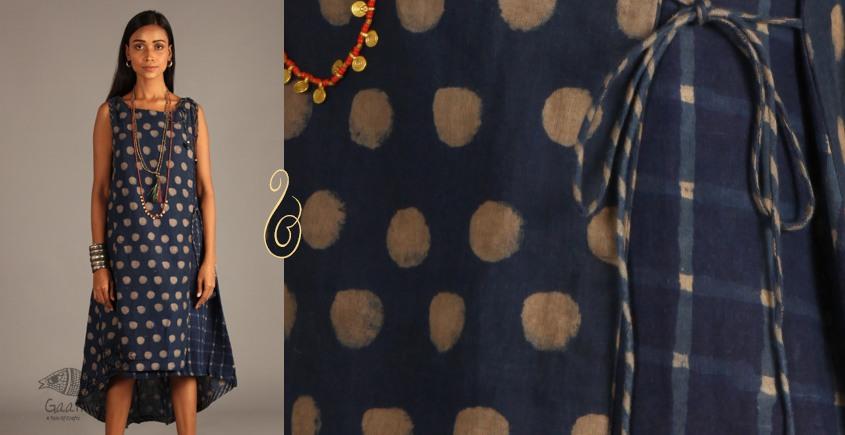 Indigo Collection | Linen angrakha wrap in block print | 10