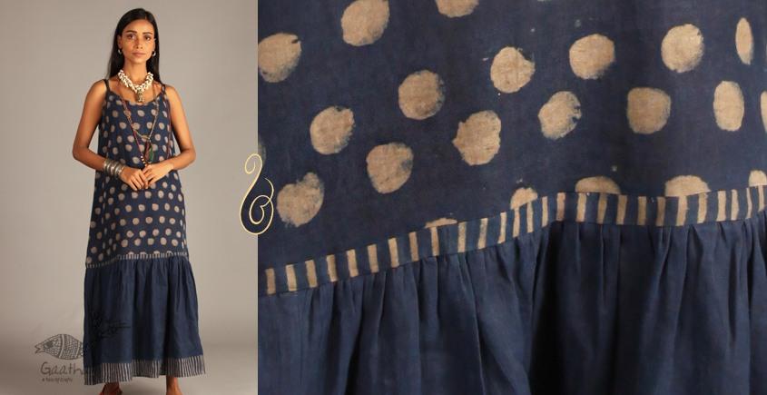 Indigo Collection   Linen maxi with block print    11