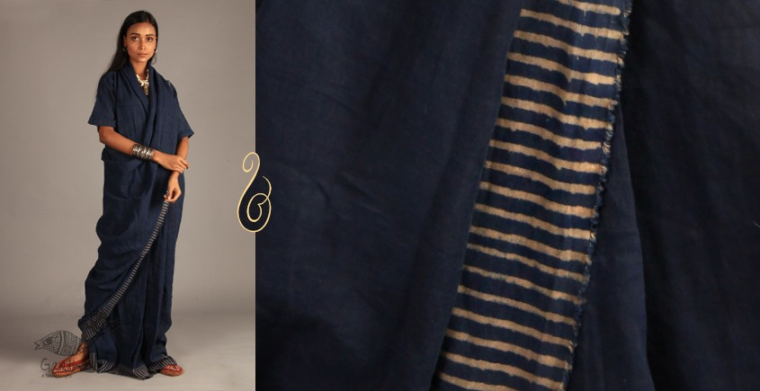 Indigo Collection | Linen block printed drape dress  | 12