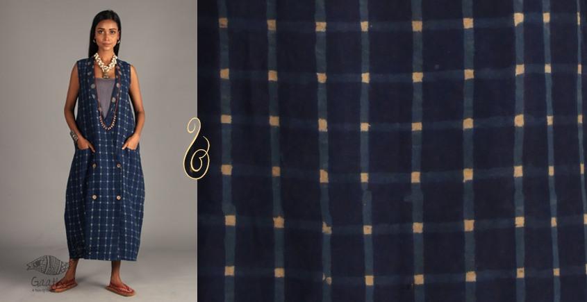 Indigo Collection | Linen block printed front open jacket | 14