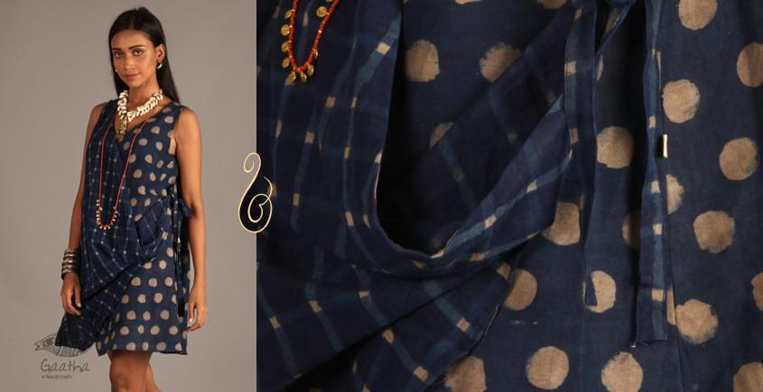 Indigo Collection | Linen block printed angrakha top  | 15