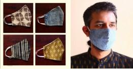 Be safe & stylish ✜ Cotton Layered Mask ( Set of 4 ) ✜ G