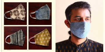 Be safe & stylish ✜ Cotton Layered Mask ( Set of 4 ) ✜ G