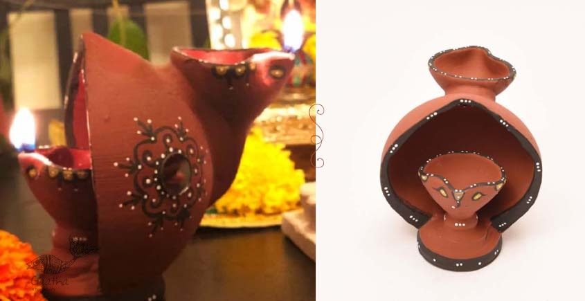 ज्योत | Jyot ☸ Decorative Clay Diya ☸ 1