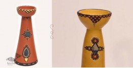 ज्योत | Jyot ☸ Decorative Clay Diya (T) ☸ 3