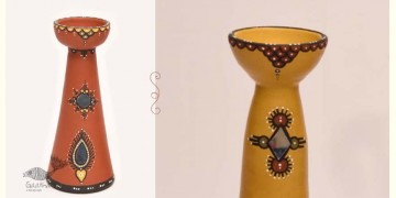 ज्योत | Jyot ☸ Decorative Clay Diya (T) ☸ 3