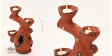 ज्योत | Jyot ☸ Decorative Clay Diya ☸ 5