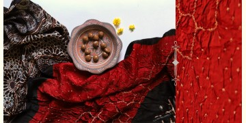Flavors of fusion |Modal Silk Ajrakh Bandhani Dupatta ❀ 10
