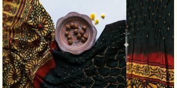Flavors of fusion | Modal Silk Ajrakh Bandhani Dupatta ❀ 15