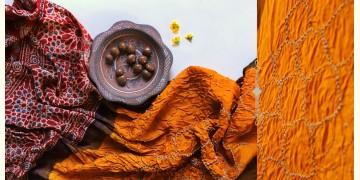 Flavors of fusion | Modal Silk Ajrakh Bandhani Dupatta ❀ 21