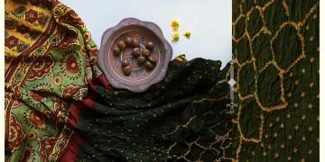 Flavors of fusion | Modal Silk Ajrakh Bandhani Dupatta ❀ 22