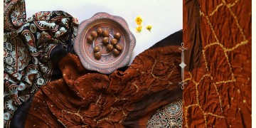 Flavors of fusion | Modal Silk Ajrakh Bandhani Dupatta ❀ 23