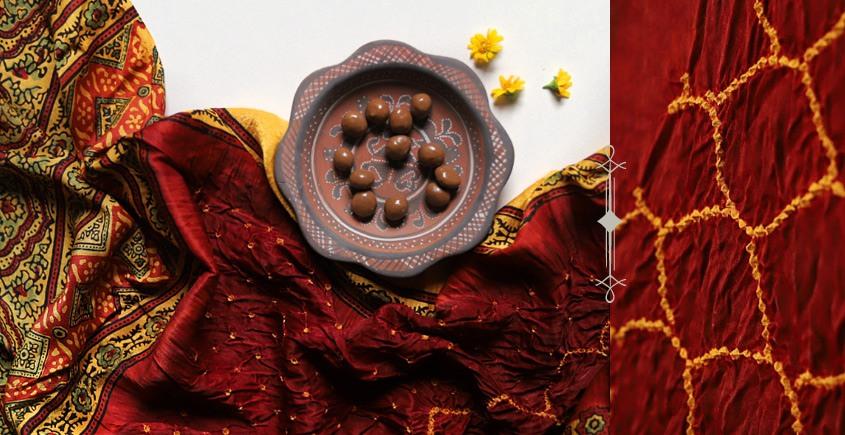 Flavors of fusion | Modal Silk Ajrakh Bandhani Dupatta ❀ 3