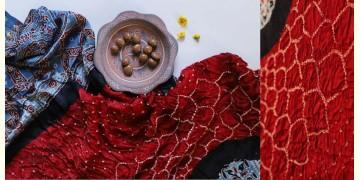 Flavors of fusion | Modal Silk Ajrakh Bandhani Dupatta ❀ 25
