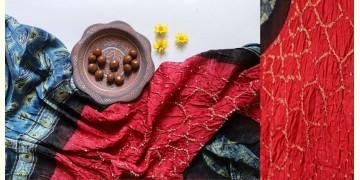 Flavors of fusion | Modal Silk Ajrakh Bandhani Dupatta ❀ 26