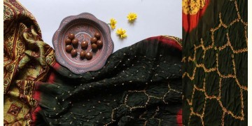 Flavors of fusion | Modal Silk Ajrakh Bandhani Dupatta ❀ 28
