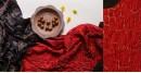 gajji silk ajrakh bandhni dupatta - red and black color