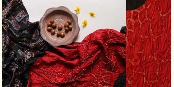 Flavors of fusion | Modal Silk Ajrakh Bandhani Dupatta ❀ 33