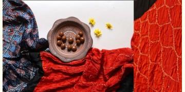 Flavors of fusion | Modal Silk Ajrakh Bandhani Dupatta ❀ 35