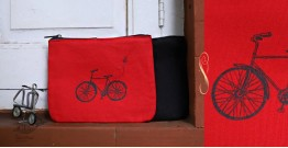 Bolsa ~ Canvas Handbags & Pouches { Set of Two } ~ 17