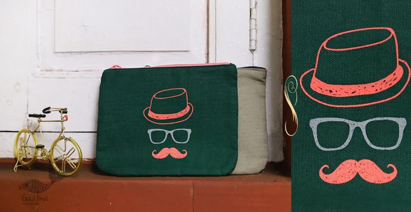 Bolsa ~ Canvas Handbags & Pouches { Set of Two } ~ 19