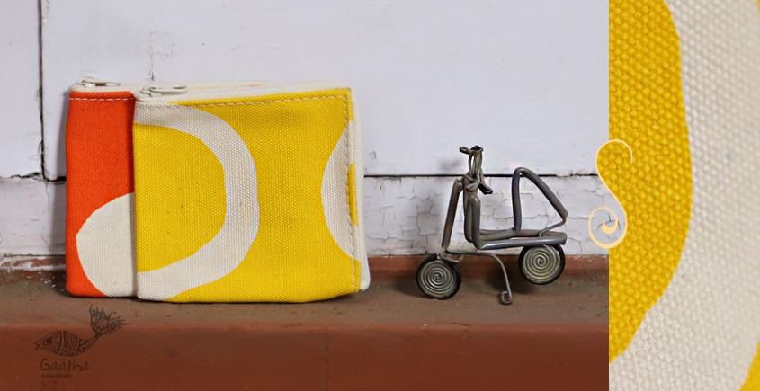 Bolsa ~ Canvas Handbags & Pouches ~ Coin Pouch  { Set of Two } ~ 15