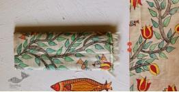 Madhubani ❁ Tussar Silk Hand Painted Dupatta ❁ 1