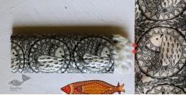 Madhubani ❁ Tussar Silk Hand Painted Dupatta ❁ 4
