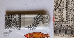 Madhubani ❁ Tussar Silk Hand Painted Dupatta ❁ 5