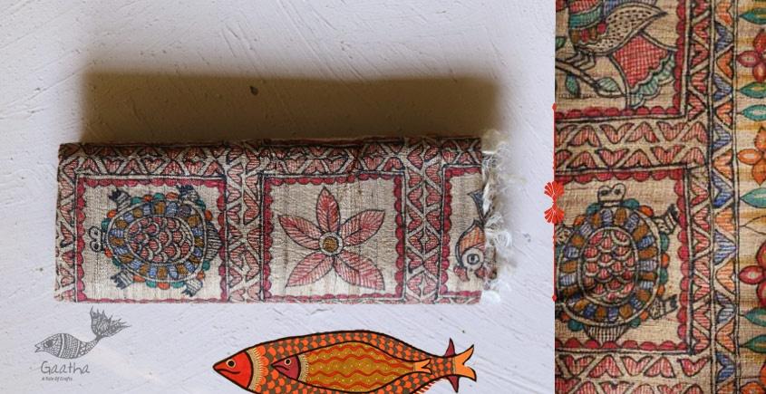 Madhubani ❁ Ghicha Silk Hand Painted Dupatta ❁ 6