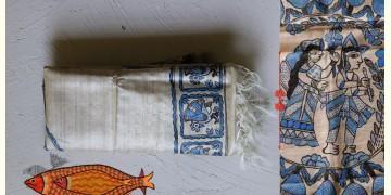 Madhubani ❁ Tussar Silk Hand Painted Dupatta ❁ 11