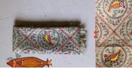 Madhubani ❁ Tussar Silk Hand Painted Dupatta ❁ 13