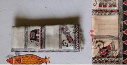 Madhubani ❁ Tussar Silk Hand Painted Dupatta ❁ 15