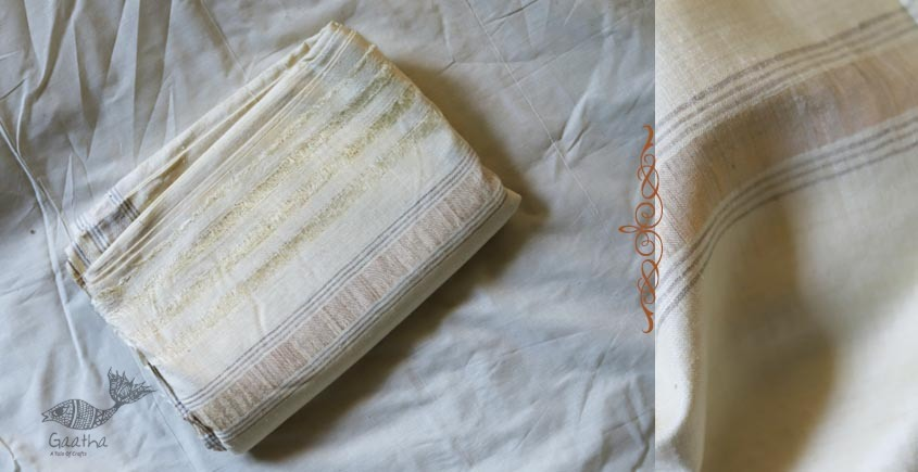 Organic Living ❇ Handwoven Matka Silk Dhoti-Khes set  ~ B