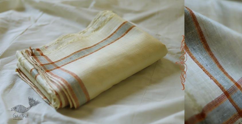Organic Living ❇ Handwoven Matka Silk Dhoti-Khes set  ~ C