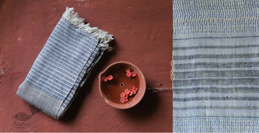 Advik ◉ Handwoven ◉ Cotton Organic Doria Stole◉ 3