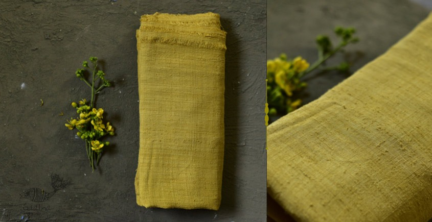 buy online online Handloom Matka Silk yellow  Shawl
