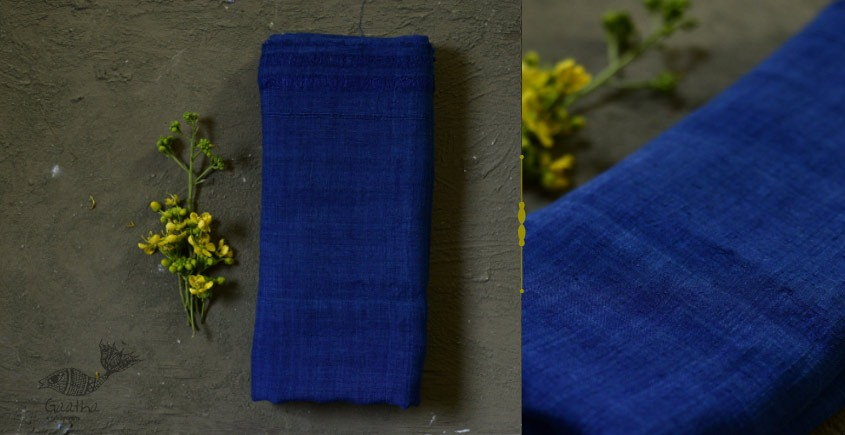 buy online online Handloom Matka Silk Blue Shawl