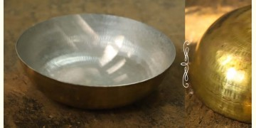 "Brass Kadai with Tin coating ( Large Without Handle - 12"" X  12"" x 3.5"")"