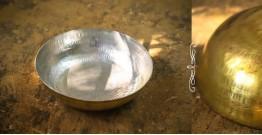 """Brass Kadai with Tin coating (Medium Without Handle - 9.5"""" X  9.5"""" x 3"""")"""
