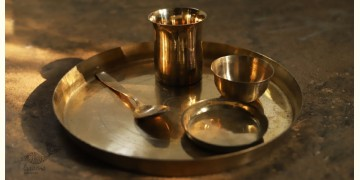 """Kanssa Thali Set - Set of Four (12"""" X  12"""" x 1"""") Without Small Plate"""