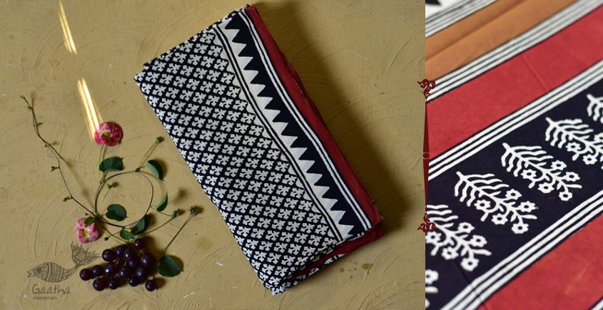 बूटी ✹ Sanganeri Block Printed Saree  (Mul cotton) ✹ 12