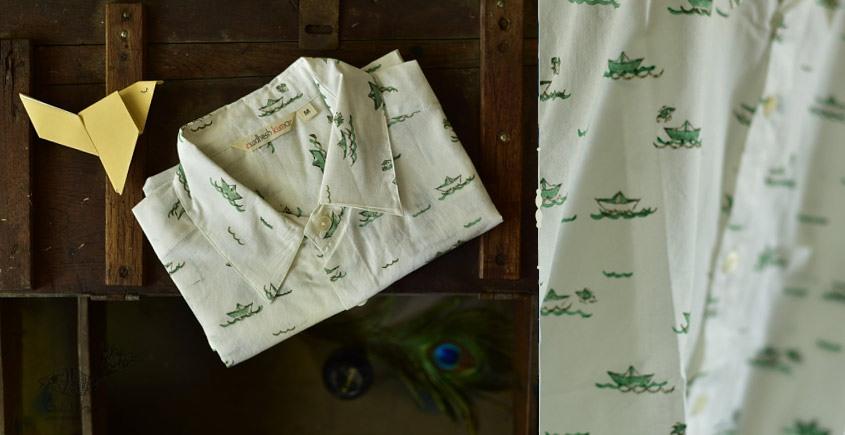 Sing of Spring ✯ Sanganeri ✯ Cotton Half Sleeve Shirt ✯ 30