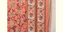 buy Double Bed Sanganeri Block Printed Jaipuri quilt in peach color