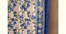 buy Double Bed Sanganeri Block Printed Jaipuri Razai in blue and white color combination