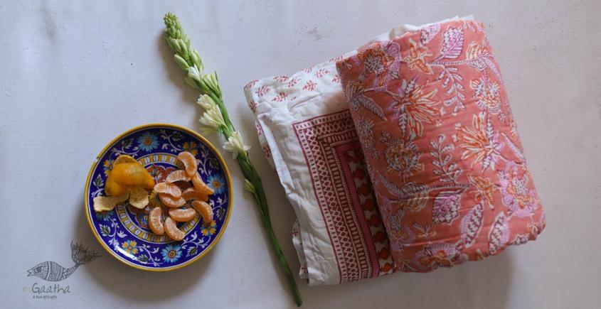 buy online Single Bed Sanganeri Block Printed Jaipuri Razai/quilt