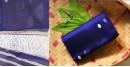 Handwoven Silk dupatta - Blue color